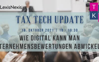 TaxTech Update am 18. Oktober 2021
